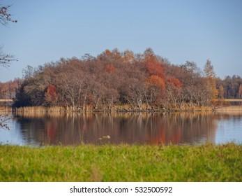 Kizhi Island. Autumn. Onega lake