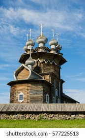 Kizhi Pogost - architectural ensemble of the wood is located on the island of Kizhi, included in the UNESCO World Heritage List. Karelia, north of Russia.
