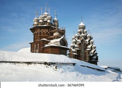 Kizhi Pogost, Karelia, Russia.