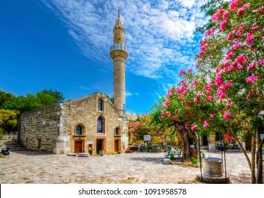 Kizilhisarli Mustafa Pasa Mosque in Bodrum Castle, Turkey