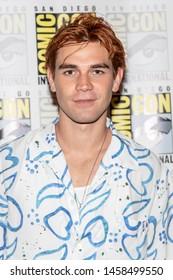 "KJ Apa attends 2019 Comic-Con International CW's ""Riverdale"" at Hilton Bayfront, San Diego, California on July 21 2019"