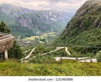 Kjerag Bolten Hike background view Norway
