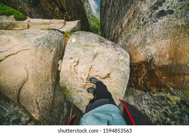 Kjerag or Kiragg (a giant boulder is wedged in a mountain crevasse) is a mountain in Forsand municipality in Rogaland county, Norway