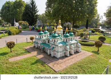 KLAGENFURT, AUSTRIA - SEPTEMBER 15, 2016 : Minimundus one of the most popular tourist attractions and excursion parks of Carinthia. Minimundus was opened in 1959 and have miniature world sights in.