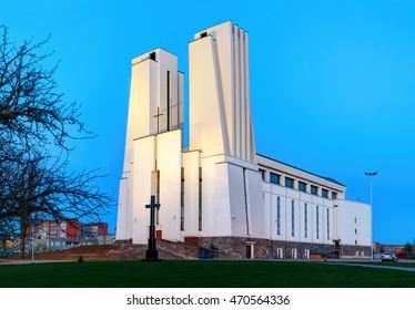 KLAIPEDA, LITHUANIA - 26 APRIL 2016: St. Joseph the Worker catholic church, Klaipeda. Lithuania