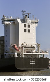 KLAIPEDA,LITHUANIA- JUNE 08:Container Ship EILBEK in port Klaipeda on June 08,2015 in Klaipeda,Lithuania.