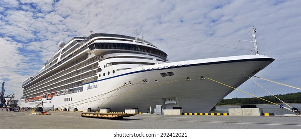 KLAIPEDA,LITHUANIA- JUNE 30:cruise liner MARINA in port on June 30,2015 in Klaipeda,Lithuania.