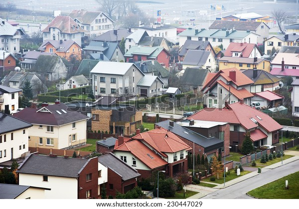 KLAIPEDA,LITHUANIA- NOV 12:view of the city in the fog on November 12,2014 in Klaipeda, Lithuania.