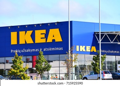 KLAIPEDA,LITHUANIA- SEPT 06: IKEA  store on September 06,2017 in Klaipeda, Lithuania. Ikea is a world's largest furniture retailer, founded in Sweden in 1943.