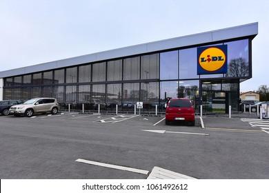 KLAIPEDA,LITHUANIA-APRIL 031,2018: LIDL supermarket.