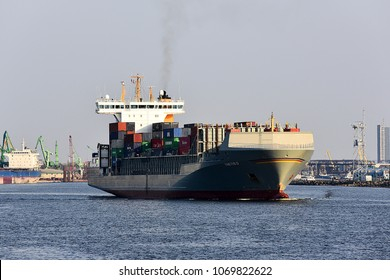 KLAIPEDA,LITHUANIA-APRIL 15,2018:containership THETIS D.