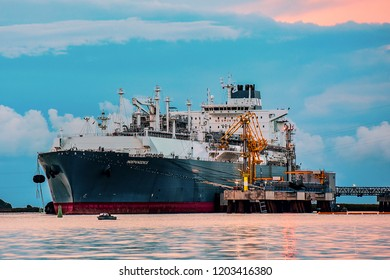 KLAIPEDA,LITHUANIA-AUGUST 21,2017 :The liquefied-natural-gas (LNG) ship Independence.