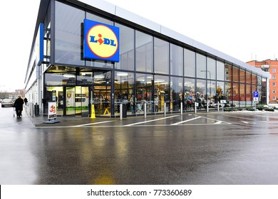 KLAIPEDA,LITHUANIA-DECEMBER 11,2017: LIDL supermarket.