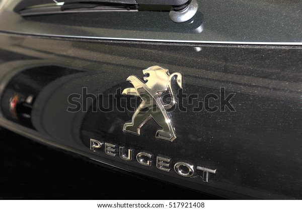 Klaipedalithuaniajuly 12 Peugeot Car Logo On Stock Photo Edit Now 517921408