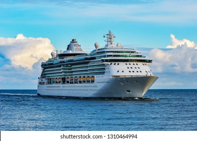 Klaipeda,lithuania-June 20,2015:cruise liner SERENADE OF THE SEAS in the Baltic sea. Serenade of the Seas is a Radiance class cruise ship in the Royal Caribbean International fleet.