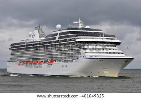 KLAIPEDALITHUANIAJUNE 24 Cruise Liner MARINA Baltic Sea Stock Photo