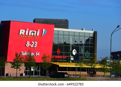 KLAIPEDA,LITHUANIA-MAY 16: RIMI supermarket  on May 16,2017 in Klaipeda ,Lithuania.