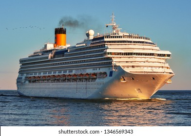 Klaipeda,Lithuania-May 28,2015: cruise liner COSTA PACIFICA in the Baltic sea.Costa Pacifica is a Concordia-class cruise ship for Costa Crociere.