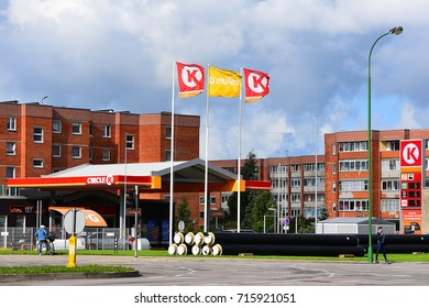 KLAIPEDA,LITHUANIA-SEPT 13: Circle K gas station  on September 13,2017 in Klaipeda,Lithuania.Circle K is an international chain of convenience stores, founded in 1951 in El Paso, Texas, United States.