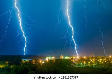 KLAIPEDA,LITHUANIA-SEPTEMBER 09,2009:Storm. Thunder. Lightning.
