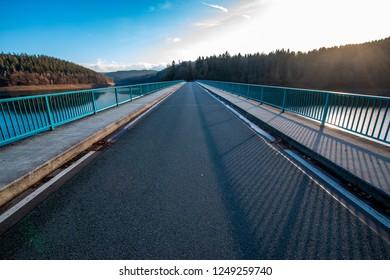Klamer Bridge over the Versetalsperre in the Sauerland, Germany