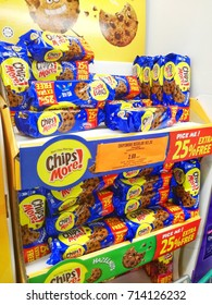 Klang Malaysia: August 2017. Chips more cookies in Supermarket.