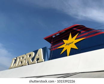 Klang, Selangor Malaysia - 12 January 2018 : Star Cruise Libra was park at port klang waiting for tourist and local people for holiday.