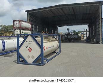 klang, Selangor.  May 31,2020: excellent storage and maintenance of bulktank