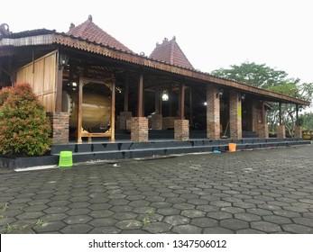 KLATEN, INDONESIA – MARCH 23, 2019 : Joglo Mosque (Masjid Joglo) in Klaten  in Central Java in Indonesia.