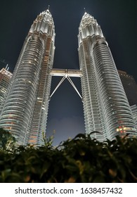 KLCC Tower. This tower is one of the famous building in Malaysia for the tourist. This picture was taken at the mid night.