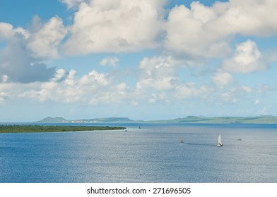 Klein Bonaire on the left and the Bay of Bonaire - Netherlands Antilles