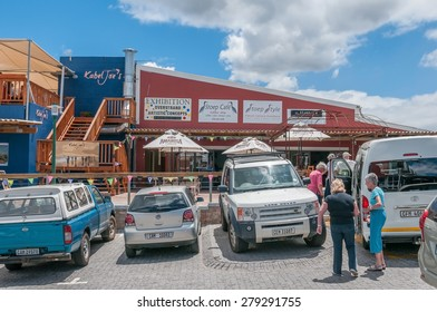 KLEINMOND, SOUTH AFRICA - DECEMBER 23, 2014: Street scene at the waterfront
