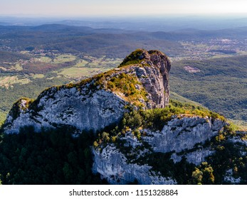 Klek is mountain in north-western Croatia, near Ogulin in Karlovac County. It is the easternmost mountain of the Velika Kapela range of the Dinaric Alps. Drone aerial photo.