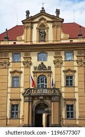 Klementinum building in Prague, Czech Republic.