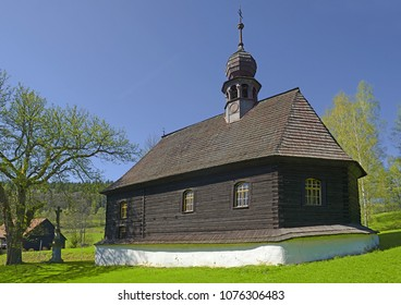 Klepacov - Wooden church of Saint John of Nepomuk - single-bar wooden baroque church from 1783, Mountains Jeseniky, Moravia, Czech Republic