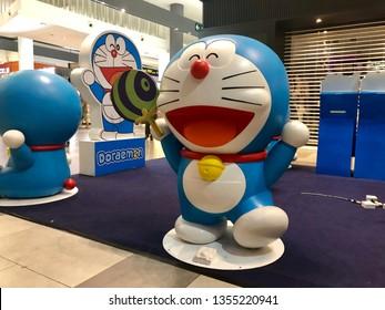 KLIA2, Malaysia - March 2019. Doraemon statue at Doraemon Pop Up Store in KLIA2, Malaysia