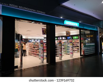 KLIA2, MALAYSIA - NOV 16, 2018 : Watson store in KLIA2. Watsons Personal Care Stores, known simply as Watsons, is the largest health care and beauty care chain store in Asia.