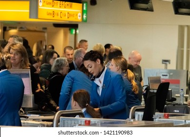 KLM Ground Personnel At Work At Schiphol The Netherlands 2019