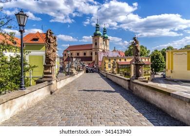 Klodzko, bridge baroque replica of the Charles Bridge in Prague