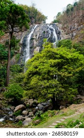 Klong lan waterfall is big and very beautiful in forest