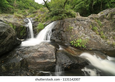 Klong Nam Lai Waterfall, Paradise waterfall in Tropical rainforest of Thailand , water fall in deep forest at Kampangpetch province Thailand .