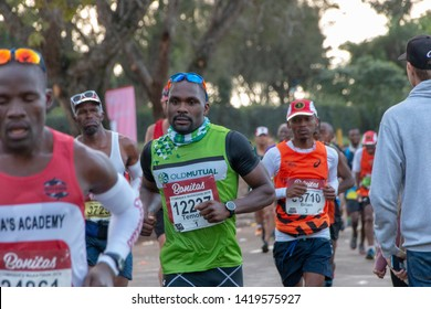 Kloof-Durban-South Africa-Nine of June 2019. Runners in the comrades marathon on the green mile in kloof.