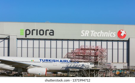 Kloten, Switzerland - September 30, 2016: an airplane of the Turkish Airlines serviced at Zurich Airport. Turkish Airlines is the national flag carrier airline of Turkey.