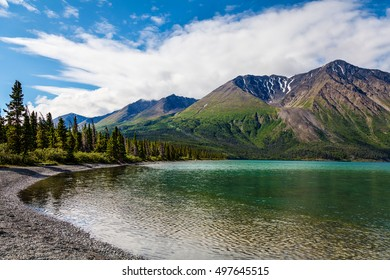 Kluane Lake-Yukon Territory- Canada This magnificent and expansive lake has a beautiful shoreline and numerous vistas.