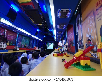 Kluang, Johor / Malaysia - August 22, 2019 : Legoland education programme in Kluang. A special workship in Legoland that focuses in science, technology, engineering, mathematics and science.