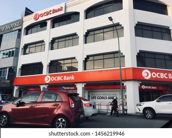 Kluang, Johor / Malaysia - July 20, 2019 : OCBC Oversea Chinese Banking Corporation. OCBC Bank is the longest established Singapore bank, formed in 1932 from the merger of three local banks.