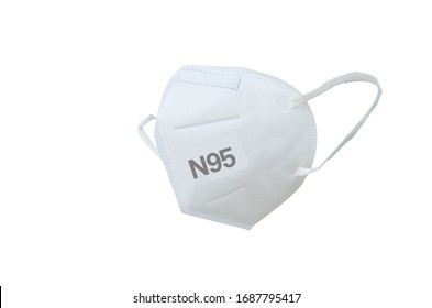 KN95 or N95 mask for protection pm 2.5 and corona virus (COVIT-19).Anti pollution mask.air face mask.KN95 or N95 mask with N95 word.n95 on white background with clipping path.