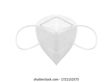 KN95 or N95 Protective face mask, anti pollution mask on white background with clipping path