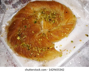 Knafeh-this dessert originates from the city of Nablus in Palestine and is made with Nabulsi cheese.