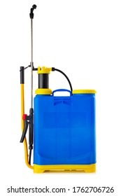 Knapsack sprayer. Backpack manual sprayer machine isolated